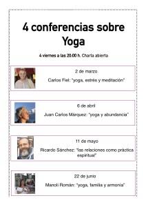 4 conferencias Yoga