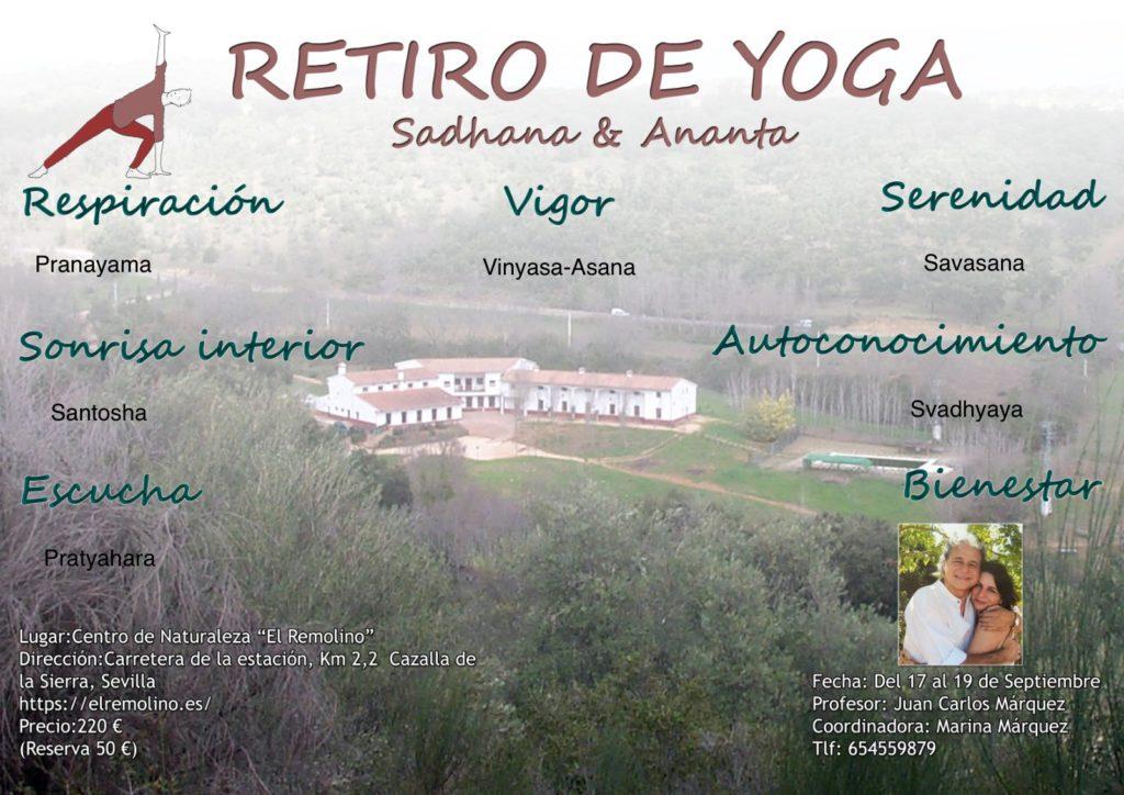 Retiro de Yoga en septiembre 2021